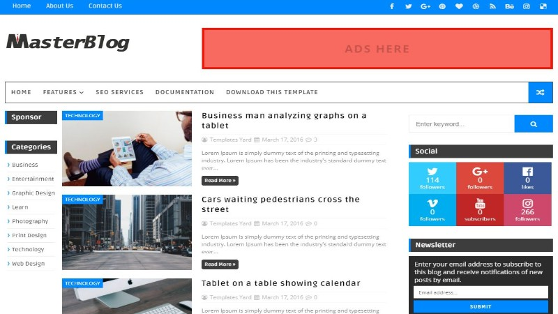 Plantillas gratis para Blogger - Descargar