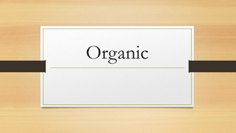 Organic - Plantillas Gratis